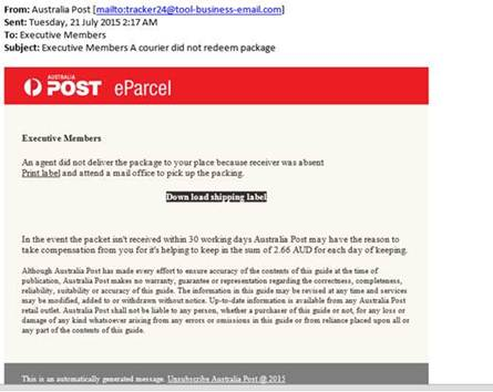 Australia Post Email Scam