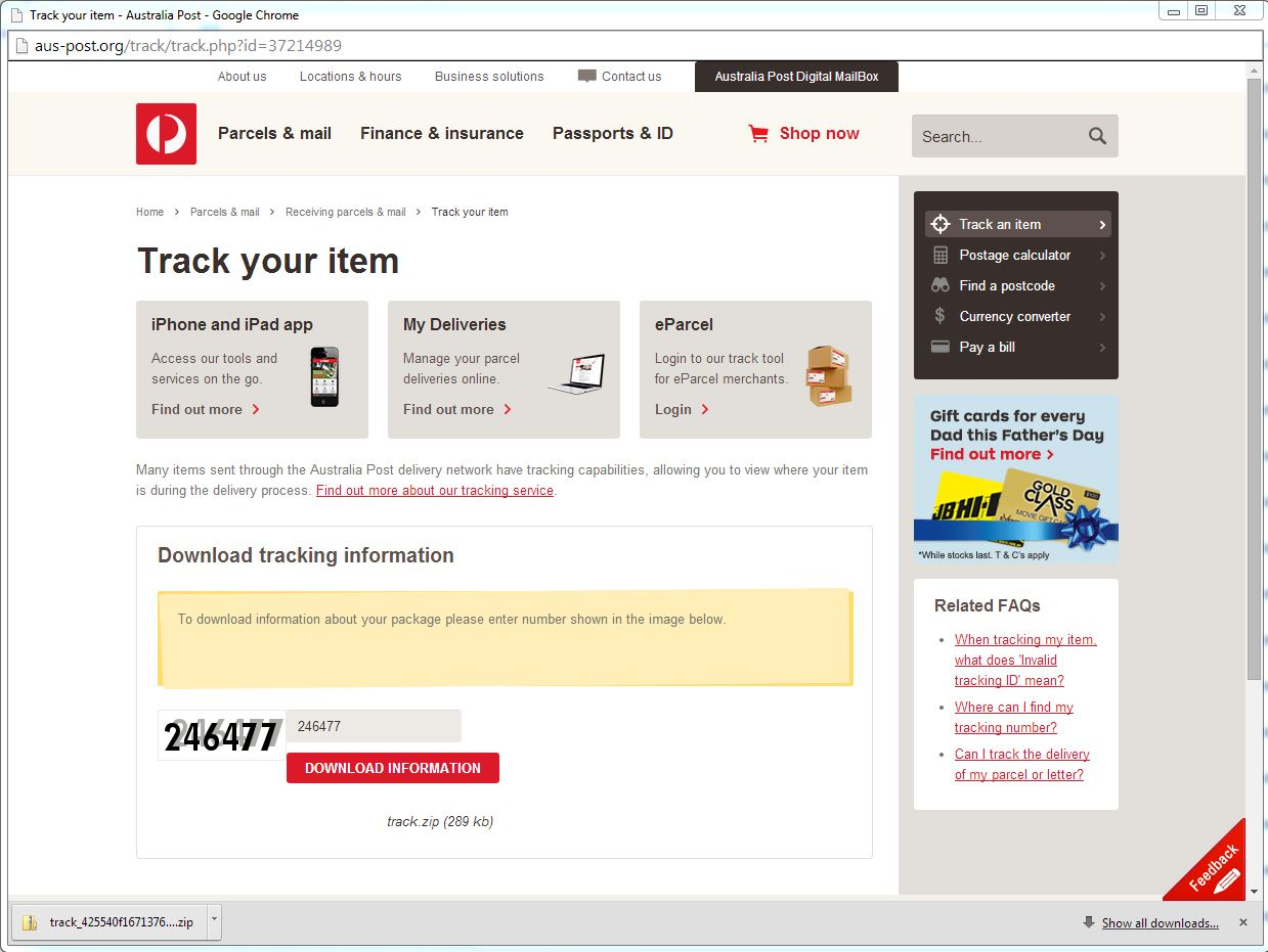 Australia Post Email Scam 2