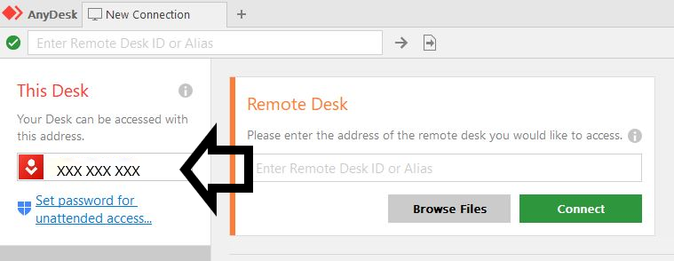 AnyDesk Connection