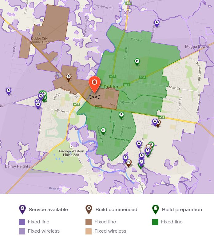 Dubbo NBN map